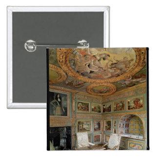 Interior of the 'Salle Louis XIV' 15 Cm Square Badge