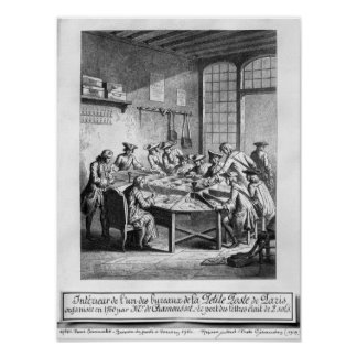 Interior of the Small Post Office in Paris Print