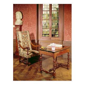 Interior of the study of Honore de Balzac Postcard