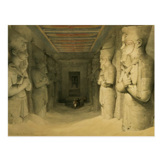 """Interior of the Temple of Abu Simbel, from """"Egypt Postcard"""