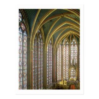 Interior of the upper chapel looking east, begun 1 postcard