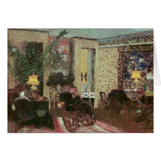 Interior or, The Salon with Three Lamps, 1899 Card