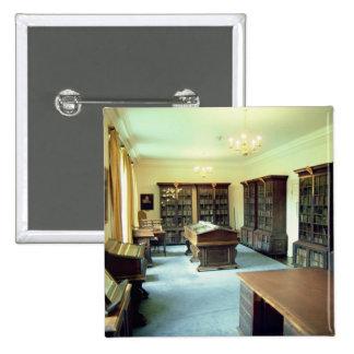 Interior view 15 cm square badge