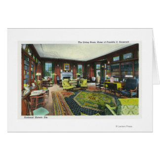 Interior View of FDR's Living Room Card