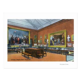 Interior View of Pilgrim Hall Postcard