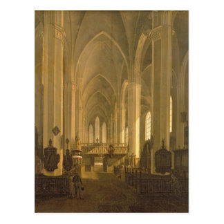 Interior view of St. John's Church in Hamburg Postcard