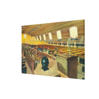 Interior View of Sunset Bowling Center Canvas Print