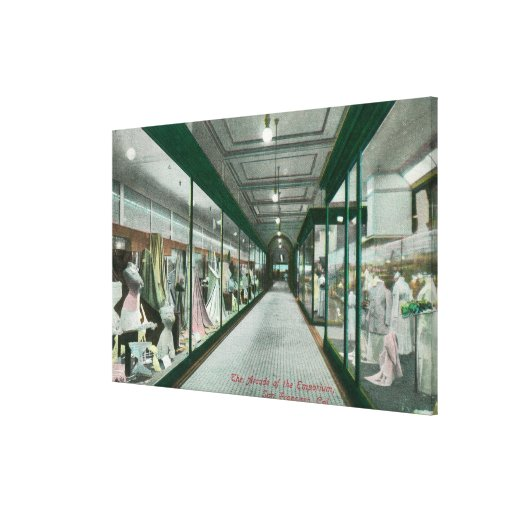 Interior View of the Arcade of the Emporium Stretched Canvas Prints