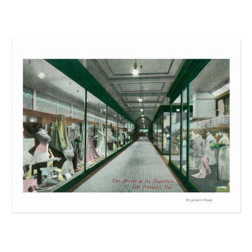 Interior View of the Arcade of the Emporium Post Cards