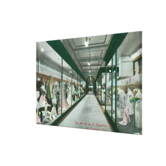 Interior View of the Arcade of the Emporium Stretched Canvas Print