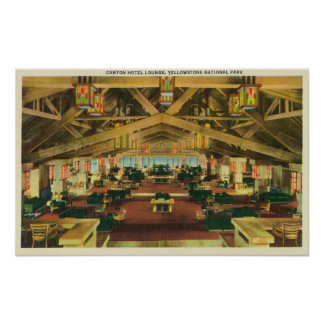 Interior View of the Canyon Hotel Lounge Poster