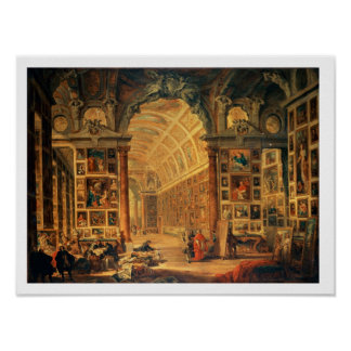 Interior View of The Colonna Gallery, Rome (oil on Poster