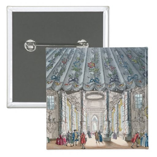 Interior View of the elegant music room Pinback Button