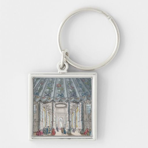 Interior View of the elegant music room Key Chains