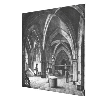 Interior view of the entrance room stretched canvas print