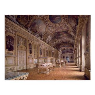 Interior view of the Galerie d'Apollon Postcard