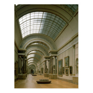 Interior view of the Grande Galerie Postcard