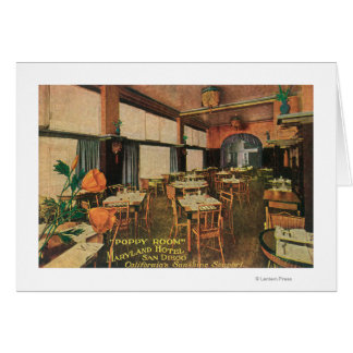 Interior View of the Poppy Room at Maryland Hote Greeting Card