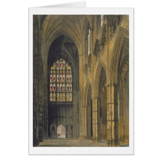 Interior View of Westminster Abbey Looking Towards Greeting Card
