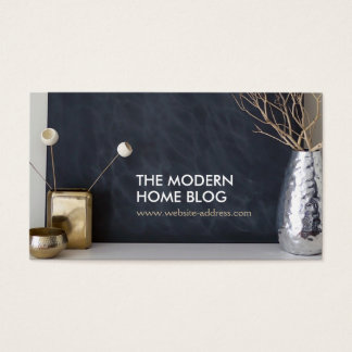 INTERIOR VIGNETTE PHOTO on MODERN Business Card