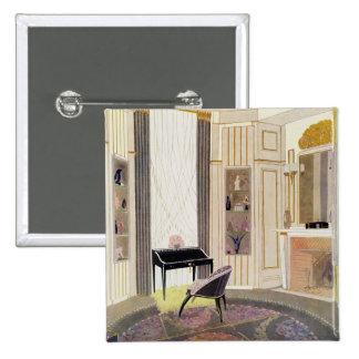 Interior with furniture designed by Ruhlmann, from 15 Cm Square Badge