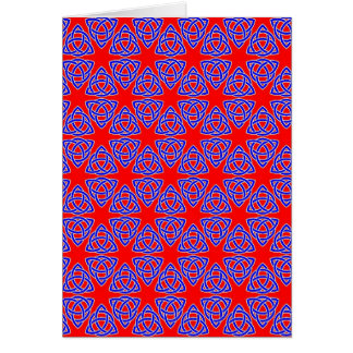 INTERLACED: RED & BLUE ILLUSION  ~ GREETING CARD