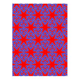 INTERLACED: RED & BLUE ILLUSION  ~ POSTCARD
