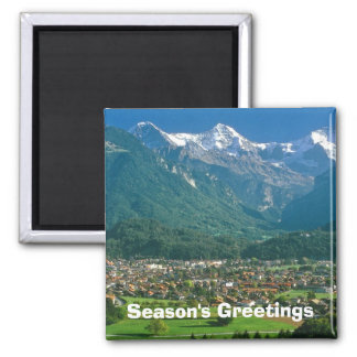 Interlaken and the Jungfrau Square Magnet