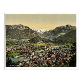 Interlaken, from the Heimwehfluh, towards the Hard Postcard