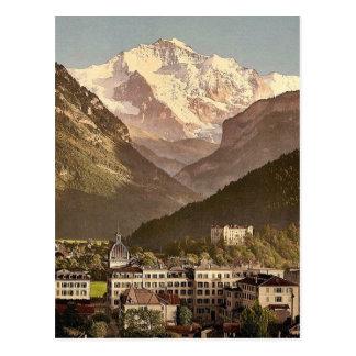Interlaken, hotels, Bernese Oberland, Switzerland Postcard