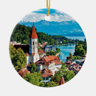 Interlaken Switzerland Panoramic Ornament