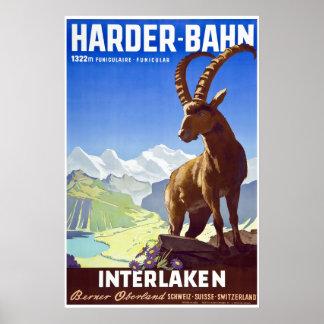 Interlaken,Switzerland,Ski Travel Poster