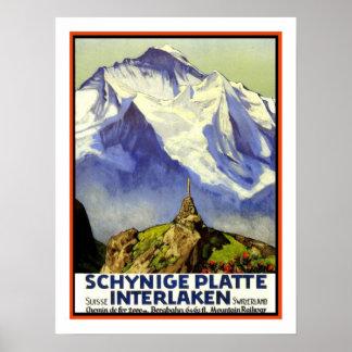 Interlaken Vintage Travel Poster