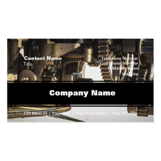 Interlinking Gears Pack Of Standard Business Cards