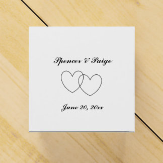 """""""Interlocking Hearts"""" Favor Boxes w/ heart cut-out"""
