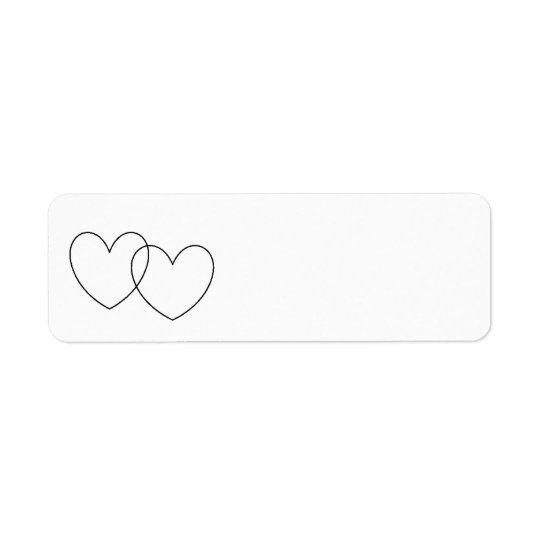 """Interlocking Hearts""  Labels"