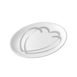 Interlocking Hearts Small Porcelain Plate
