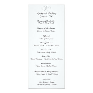 """Interlocking Hearts"" Wedding Program"