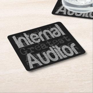 Internal Auditor Extraordinaire Square Paper Coaster