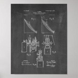 Internal Combustion Engine Patent - Chalkboard Poster
