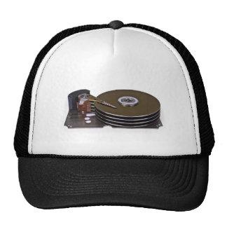 Internals of a hard disk drive trucker hats