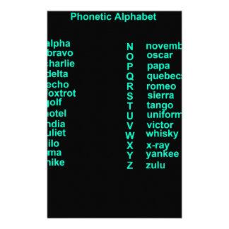 International Alphabet Customised Stationery