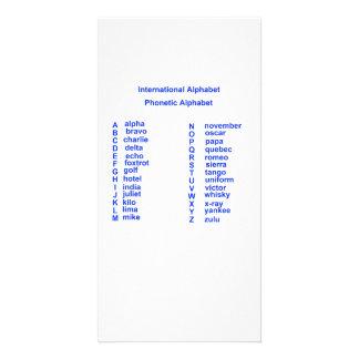 International Alphabet Picture Card