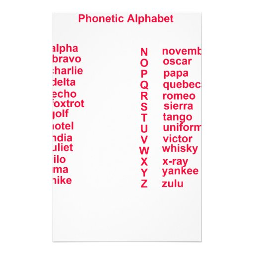 International Alphabet Customized Stationery