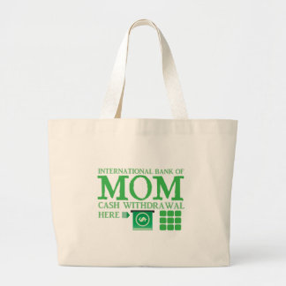 International bank of MOM (cash withdrawal here) Canvas Bags