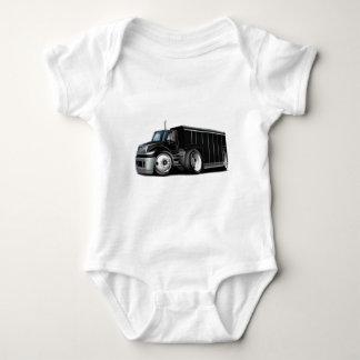 International Black Delivery Truck Baby Bodysuit