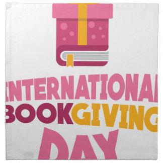 International Book Giving Day - 14th February Napkin