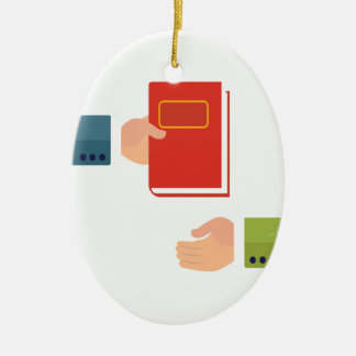 International Book Giving Day - Appreciation Day Ceramic Ornament