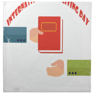 International Book Giving Day - Appreciation Day Napkin
