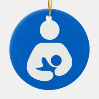 International Breastfeeding Symbol Ceramic Ornament